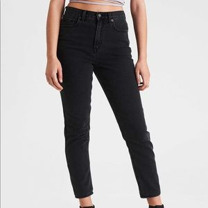 AEO Tall Black Mom Jeans